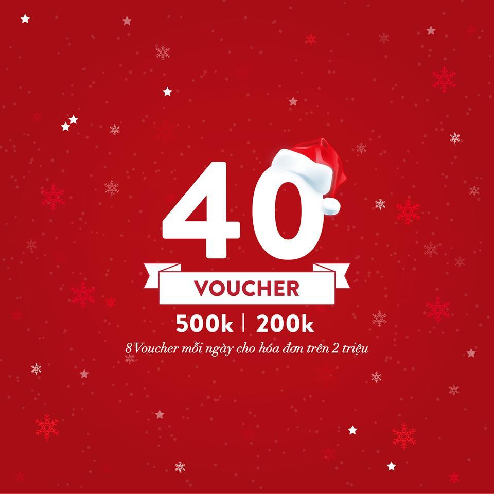 Những voucher mua hàng sẽ được trao cho những khách hàng có hóa đơn trên 500k