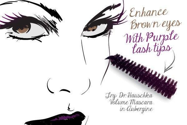 Sử dụng mascara màu đen cho lông mi