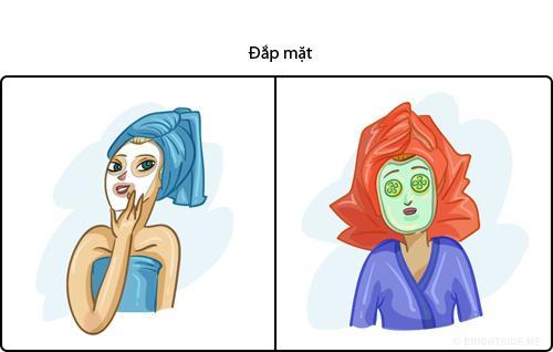 Không nhịn được cười hình ảnh phụ nữ khi 'lên hình' và ở ngoài đời khi đắp mặt