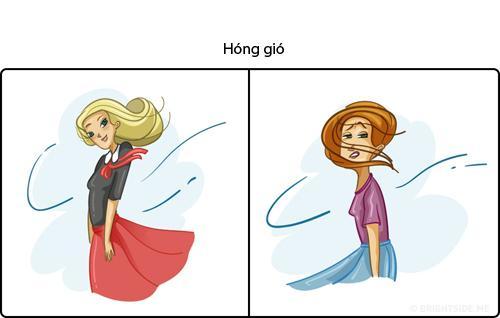 Không nhịn được cười hình ảnh phụ nữ khi 'lên hình' và ở ngoài đời khi hóng gió