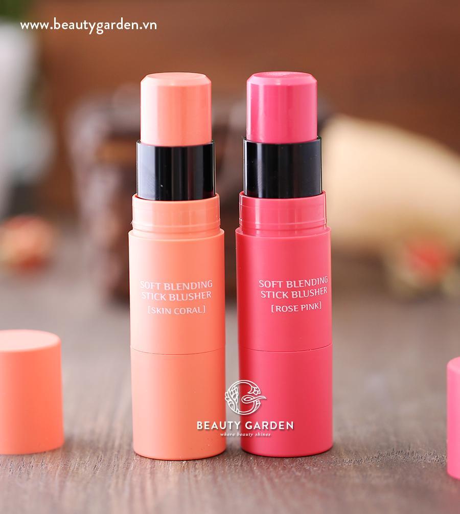 Sử dụng phấn má hồng màu da