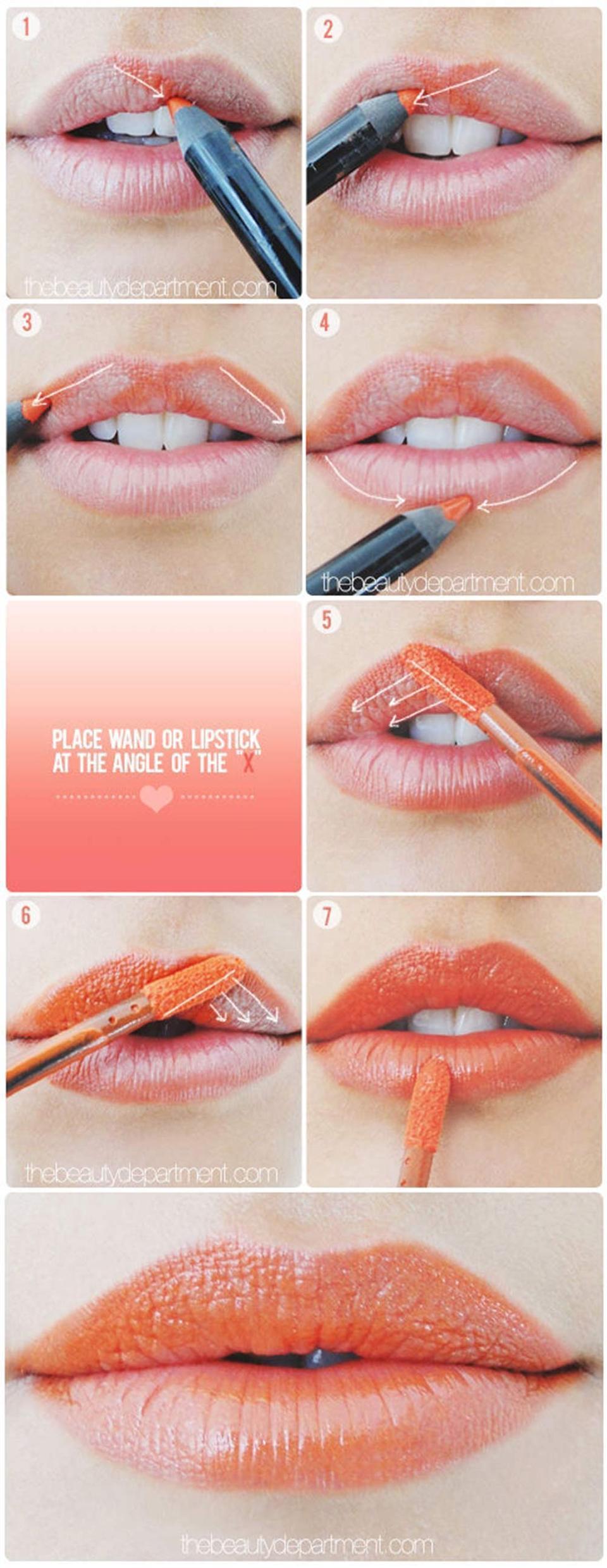 Tô môi thật chuẩn với phương pháp chữ X