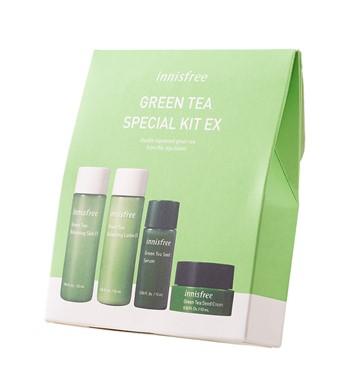 Bộ Kit Dưỡng Da Mụn Cấp Ẩm Innisfree Green Tea