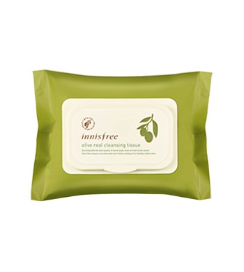Khăn giấy tẩy trang Innisfree Olive Real Cleansing Tissue