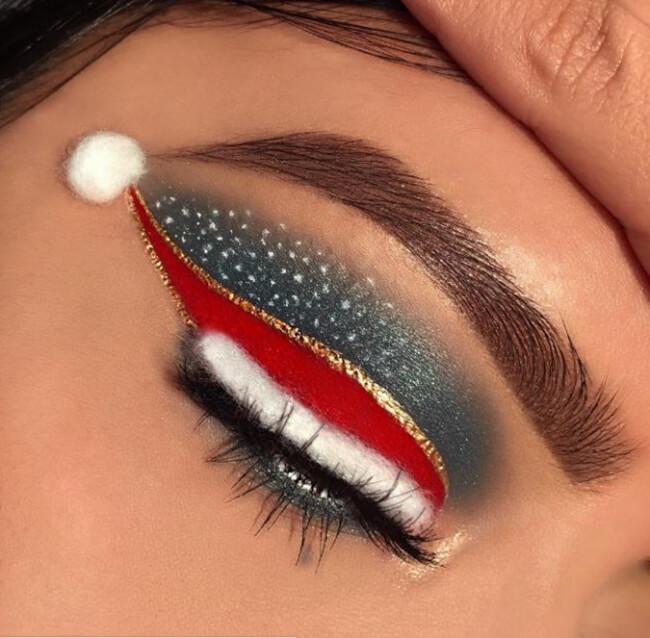 Một trong những cách trang điểm đôi mắt ấn tượng ngày Noel cho nàng thêm độc lạ