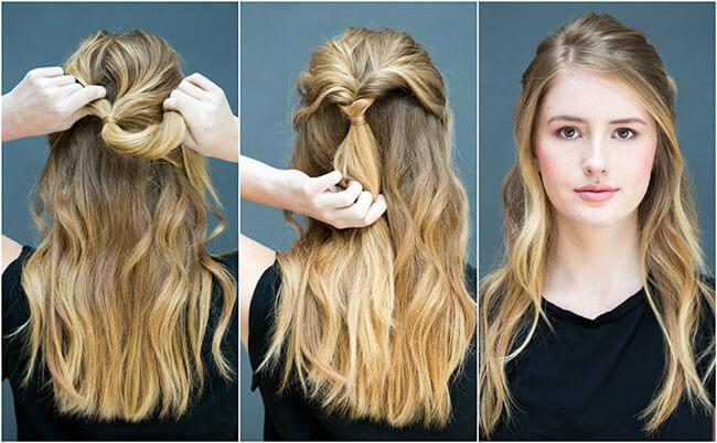 Cách làm tóc đơn giản cho bạn gái đi chơi Noel không cần chun hay kẹp tăm