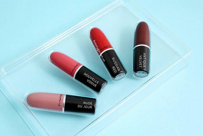 Set son đình đám nhất hiện nay - Mac Snow Ball Lipstick Kit – Warm