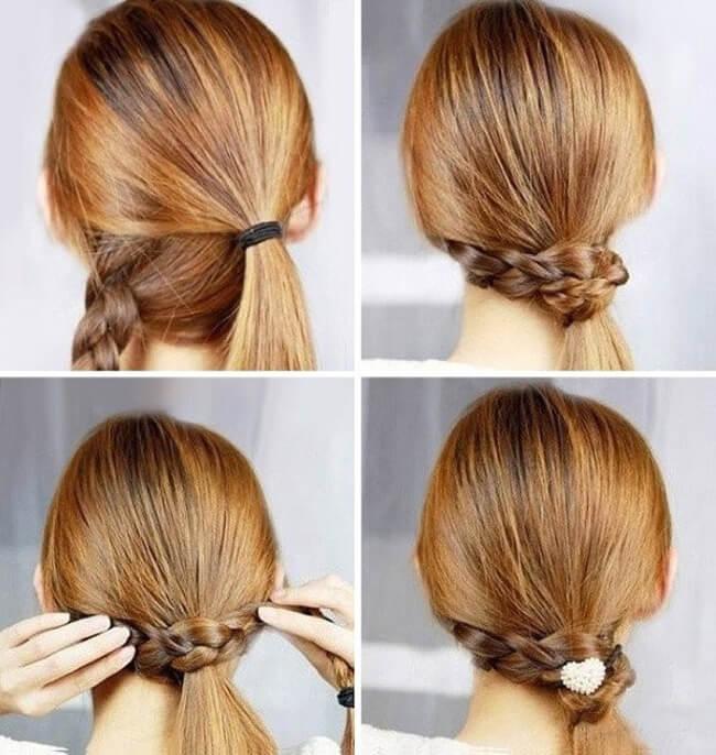 Hướng dẫn cách làm tóc đẹp trong ngày Noel với kiểu buộc tóc tết lệch