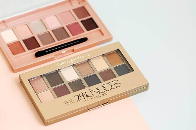 Phấn mắt đẹp rẻ từ Maybelline The Blushed Nudes Palette