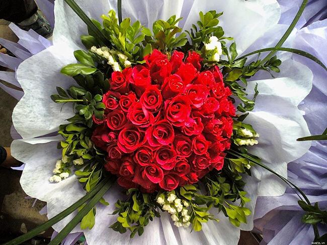 Hoa hồng tươi thể hiện sự lãng mạn cực kỳ dành cho vợ của mình