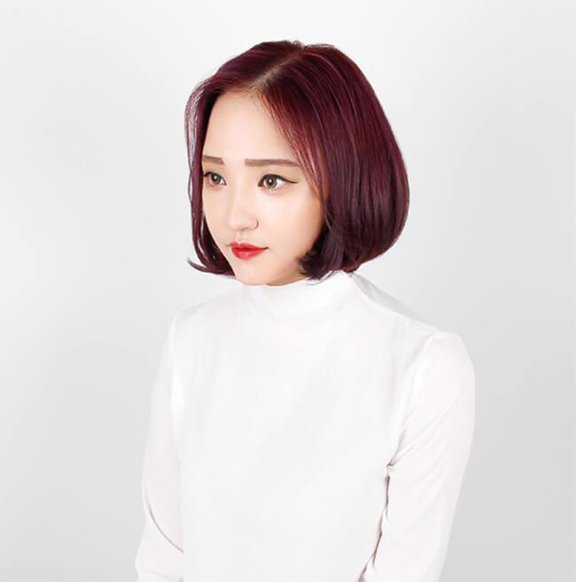 Tóc nhuộm màu Violet cho tóc đẹp bất ngờ