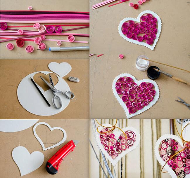 Các bước làm một tấm thiệp chúc mừng 20-10 đơn giản với trái tim ngọt ngào