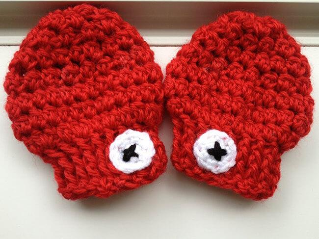 Quà tặng Noel là một đôi găng tay cực kỳ xinh xắn đáng yêu