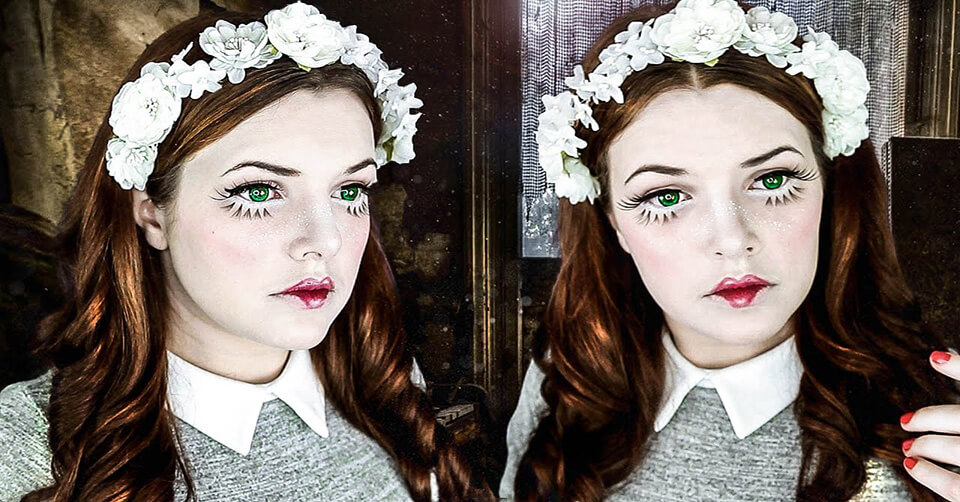 """Bạn cũng có thể trở thành cô búp bê phá cách với những đường kẻ mắt sắc sảo và """"kỳ quái"""""""