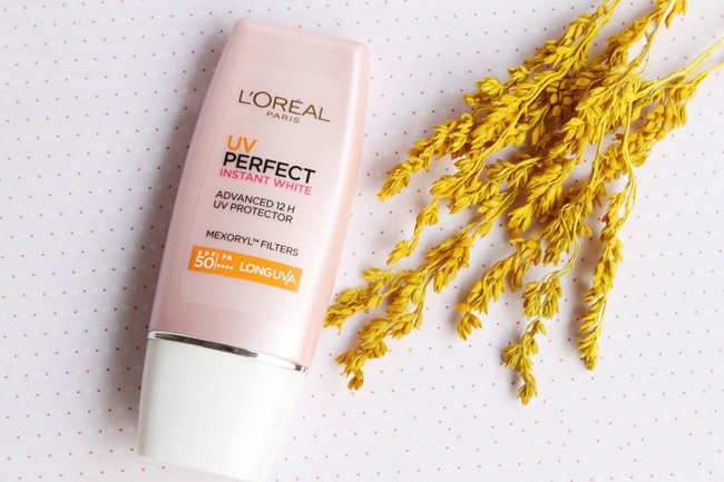kem chong nang loreal paris uv perfect instant white hong 30ml hinh anh 1