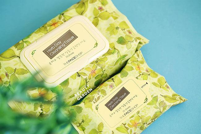 Khăn tẩy trang Herb Day Cleansing Tissue