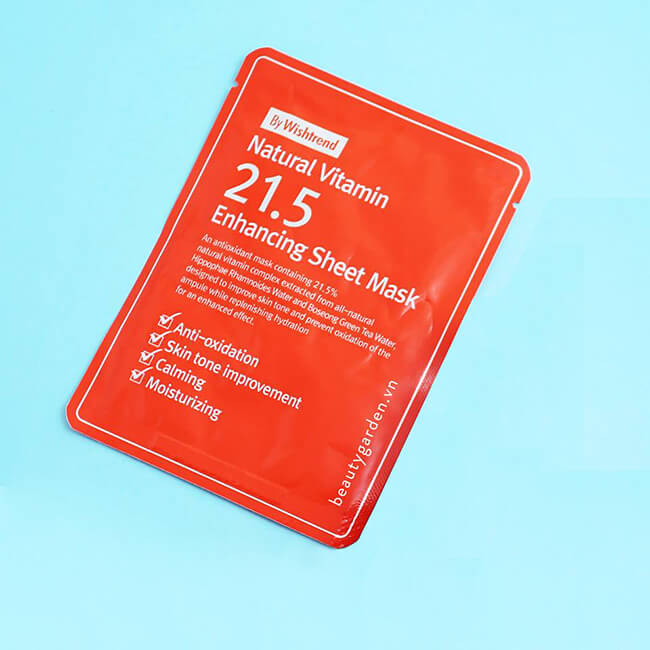 mat na giay ost natural vitamin c215 enhancing sheet mask hinh anh 1